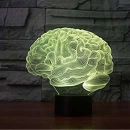 illusions paintings Australia - 3D Glow LED Night Light Brain Inspiration 7 Colors Optical Illusion Lamp Touch Sensor for Home Party Festival Decor Great Gift Idea