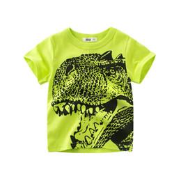 $enCountryForm.capitalKeyWord UK - Wholesaler Cheap Children t shirts for Boys Cartoon Dinosaur Baby Boys Summer Tops Tee short sleeved shirt Printd Kids T-shirt Boy Clothing