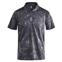 Wholesale camouflage polo shirts men resale online – Regular Mege Brand Clothing Men S Shirts Tactical Camouflage Polo Shirt Summer Casual Clothing With Patches Typhon Multicam Fast Dry