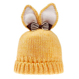 China Newborn Baby Hat Lovely Rabbit Ears Wool Knitted Hat for Boy Girl Infant Winter Warm Caps Baby Bunny Beanies suppliers