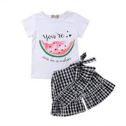 d850ee4803d Toddler Kids Baby Girls Watermelon T-shirt Tops+Beach Pants Shorts 2PCS  Outfits Clothes Set Size 2-6T