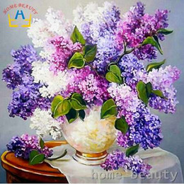 life brush NZ - Diy oil painting by numbers abstract brush acrylic paint hand painted decorative canvas painting coloring by number flowers Y081