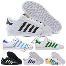 on sale f780e b6119 AD Auténticos Originales Superestrellas de los 80 Mans zapatos de Mujer  100% Smith Clásico blanco zapatos de skate de cuero genuino Oro Negro  zapatillas
