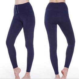 4dad2fab49756 Lace up pants online shopping - High Waist Sports Pants Women Lacing Up  Yoga Pants Running