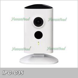 Dahua 3mp UK - Dahua English Firmware IPC-C35 3MP 10M IR C Series Wifi Wireless SD Card Slot Easy4ip C35 Network Cube Camera