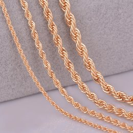 """Discount 4mm pendants - whole sale26"""" 28"""" 30"""" gold color rope chain necklace 2mm,3mm,4mm,5mm For pendant rope jewelry findings"""