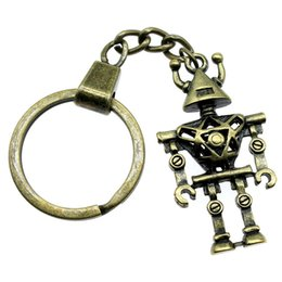 ball robot NZ - 6 Pieces Key Chain Women Key Rings Couple Keychain For Keys Robot 45x25x7mm