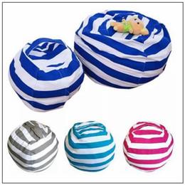 Discount kids room cartoon - 4 Colors Storage Bean Bags Kids Plush Toys Beanbag Chair Bedroom Stuffed Animal Room Mats Portable Clothes Storage Bag C