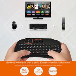 Tablet Wireless Controller Australia - VIBOTON All-in-One 2.4G Wireless Keyboard Air Mouse Remote Controller with Touchpad for Computer Projector TV Box Tablet teclado