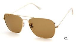 Sun Glasses Black NZ - 3136 High Quality Fashion Rectangle Sunglasses For Mens Womens Eyewear Sun Glasses Black Metal 54mm Glass Lenses