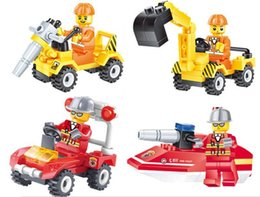 $enCountryForm.capitalKeyWord Canada - Construction team Fire rescue Building Blocks Sets Kids toy Bricks gifts
