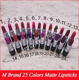 $enCountryForm.capitalKeyWord Australia - 2017 NEW matte Lipstick M Makeup Luster Retro Lipsticks Frost Sexy Matte Lipsticks 3g 24 colors lipsticks with English Name