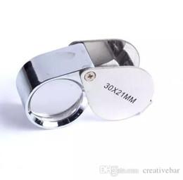 $enCountryForm.capitalKeyWord UK - Mini 30x21mm Jewelers Eye Loupes Jewelry Diamond Magnifiers Magnifying Glass Ingenious portable Loupe Magnifier in retail box fast shipment