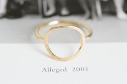 big 18k gold plated rings 2020 - 2018 Fashion big arc circle ring Plain ring drawing surface rings for women wholesale free shipping cheap big 18k gold p