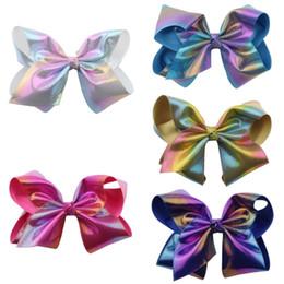 $enCountryForm.capitalKeyWord Australia - JOJO Baby Girls Boutique Grosgrain Ribbon Hair Bows Big Alligator Clips 6 Colors Sequin Bows Clips for Teens Kids Hair Accessories H968R