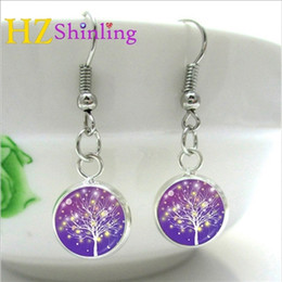 $enCountryForm.capitalKeyWord Australia - NHE-005 Silver Fish hook Copper Abstract Tree Earrings Charms Art Picture Tree of life Earring Handmade Jewelry