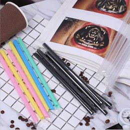 tea party birthday supplies NZ - Lot Size Big Disposable Straight Plastic Straws Bubble Tea Juice Drinking Straws Tool Birthday Wedding Decorative Party Event Supplies