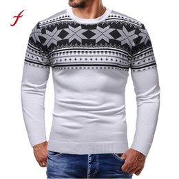 oversized christmas sweaters 2019 - 2018 new sweatshirt Men Autumn Winter Pullover Knitted Printed Christmas Sweater Outwear Blouse oversized hoodie dropshi