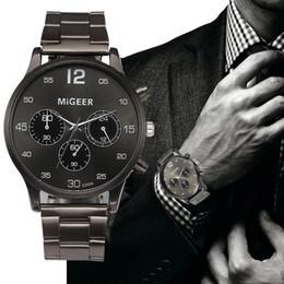 e20a4d39f6de8d Rush Sale! Simple Fashion Men Business Crystal Stainless Steel Band Analog Quartz  Wrist Watch orologio uomo Horloges xfcs Gift