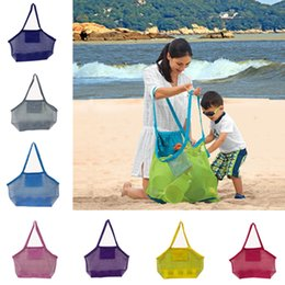 sand tote 2019 - Kids Sand away beach mesh bag for Children Kids Beach Toys beach handbag Totes Mommy bags Big size Foldable Net Shopping