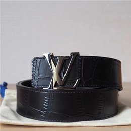 Chinese  Authentic Official Crocodile Men Belt With Box manufacturers