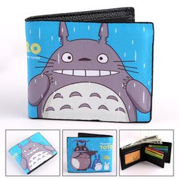 card holder wholesale NZ - Kawaii Cat High Quality Leather Short Wallet Card Holder Purse of Tonari no Totoro Anime