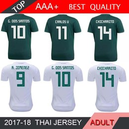 51c33bba2a0 2018 world cup Mexico Soccer Jersey Home 18 19 Green Away White CHICHARITO  Camisetas H.LOZANO G.DOS SANTOS A.GUARDADO football shirts