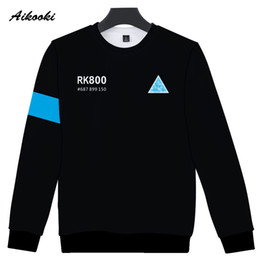 $enCountryForm.capitalKeyWord Canada - wholesale RK800 Detroit Become Human 3D Sweatshirt Men Women Hip Hop 3D Hoodies Sweatshirt Capless Polluver Boys Girls Cool Tops