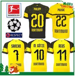 771a6cad052ca 18 19 Dortmund Borussia REUS em casa Jerseys 2018 2019 SCHURRLE PISZCZEK  PULISIC AUBAMEYANG jersey MKHITARYAN HUMMELS GOTZE camisa esporte