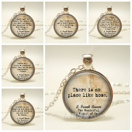 Wizard of Oz Jewelry L. Frank Baum Jewelry Inspirational Quote Fashion Accessories Pendant Necklace Vintage Statement Women Gift