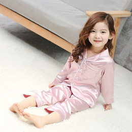 korean fashion baby boy clothes 2018 - fashion Korean style rayon new summer children pajamas solid color baby girls boys clothing sets kids nightgown teenager