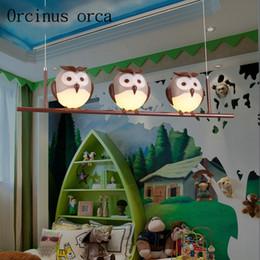 Discount girls bedroom chandelier - Cartoon cute owls children's chandeliers boys and girls bedroom creative warm protective eyes chandelier free shipp