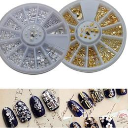 $enCountryForm.capitalKeyWord Canada - Art Rhinestones Decorations 1wheels 3d Nail Art Rhinestones Gold Silver 12 designs Metallic Decorations Studs Jewelry for Tips Toes Beads...