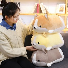 plush dog stuffed wholesale Australia - 1pc Cute Corgi Dog Plush Toy Stuffed Soft Animal Pillow Lovely Cartoon Gift For Kids Kawaii Valentine Present
