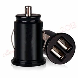 Discount usb power port for car - mini dual usb ports 2.1A Car charger auto power adapter for iphone 7 8 x samsung s7 s8 android phone gps pc mp3