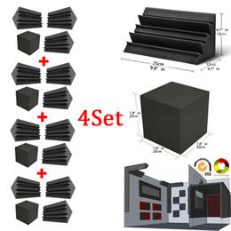 Опт Bass Trap Foam Wall Corner Аудио Звукопоглощение Пена Studio Accessorie Акустические панели 4шт / комплект