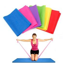 Fitness & Body Building 1.2m Elastic Yoga Pilates Rubber Stretch Exercise Band Arm Leg Back Fitness Drop Ship 100% Original