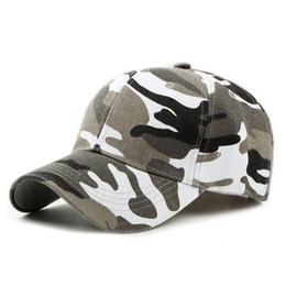 reputable site ca408 106b3 2018 Snow Camo Baseball Cap Men Tactical Cap Camouflage Snapback Hat For Men  High Quality Bone Masculino Dad Hat Trucker