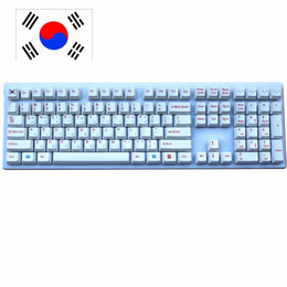 Cherry meChaniCal keyboard online shopping - 108 keys PBT keycap for OEM Profile Cherry MX switches Korean version mechanical gaming keyboard Dye sublimated keycaps
