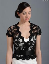27359c30697 Cheap Black Lace Applique Wedding Dress Bolero Newest White Wedding Bolero  Shrugs jacket Custom Made Bridal Wraps Accessories