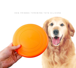 Chinese  Soft Flying Flexible Disc Tooth Resistant Outdoor Large Dog Puppy Pets Training Fetch Toy Silicone Dog Frisbee manufacturers