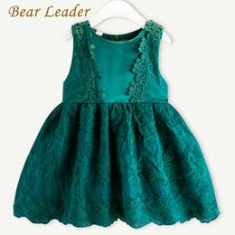 Leaders Clothing Canada - Bear Leader Girls Dress 2017 New Brand Princess Dresses Summer Style Sleeveless Lace Dress Children Clothing 3-7Y Dresses