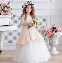 party kids special occasion dresses Canada - Charming Special Occasion Dress Pincess Pageant Flower Girl Dresses Wedding Party Dress Kids Prom Gown Children Dress GHA10