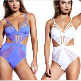 ebcc604dee9 European And American Fashion Women Thin And Pure Color Halter Swimwear  Lady Sexy Piece Swimsuit Bursting Bikini 22nr W
