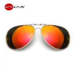 70d5ab66e87 UVLAIK Polarized Metal Frame Clip on Sunglasses Myopia Clip Sun Glasses Male  and female Eyeglasses Flip Up Sunglass
