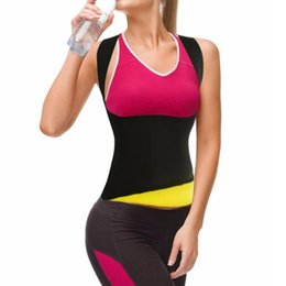 ad55b0ec02 2018 Waist Trimmer sweat Belt for Women Waist trainer Vest Women s Thermal  Slim corset with Hot black Corsets and Bustiers