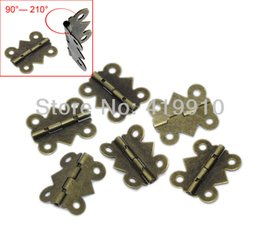 Free Shipping-50pcs Door Butt Hinges rotated From 90 Degrees To 210 Degrees Silver Tone 4 Holes 20mm X 17mm M01117-1