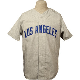 China Los Angeles 1951 Road Jersey 100% Stitched Embroidery Logos Vintage Baseball Jerseys Custom Any Name Any Number Free Shipping cheap embroidery baseball jerseys suppliers