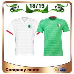 2019 Home verde Argelia Jersey de fútbol 2018 Copa del Mundo Inicio Camiseta  blanca Equipo nacional Uniformes de atletismo de fútbol de mangas cortas 84bd3e12cd921