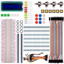 Venta al por mayor de Para raspberry pi 3 Basic Starter Kit con Switch Led Resistencias LCD para Ar-duino UNO R3 Mega2560 Mega328 Nano
